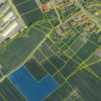 Katastralni mapa + ortofoto Tym__kov parc. c. 2245